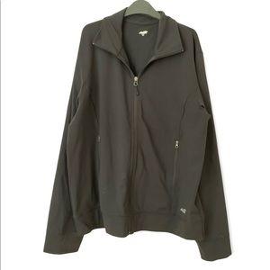 Avia Black Athletic Zip Up Jacket